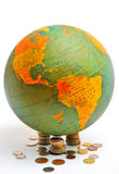 World Globe. Photographed for Travel and Finance project in a studio setting Royalty Free Stock Images