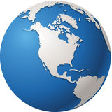 World globe. Isolated in vectors North America Stock Photography