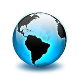 World Globe. Shiny globe earth world globe Royalty Free Stock Photos