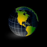 World globe. With black background Royalty Free Stock Photo