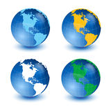 World globe. With white background Royalty Free Stock Images