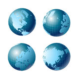 World globe. Icon and white background Royalty Free Stock Photos
