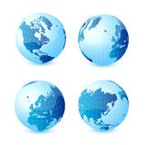 World globe. Icon and white background Stock Images