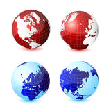 World globe. Icon and white background Royalty Free Stock Photography