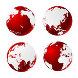 World globe. With white background Stock Image
