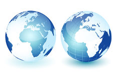 World globe. Icon and white background Stock Photo