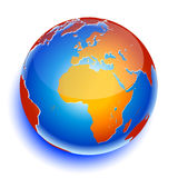 World globe. Icon and white background Stock Image