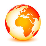 World globe. Icon and white background Stock Photography