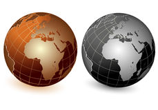 World globe. Icon and white background Royalty Free Stock Image