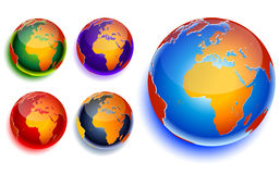 World globe. Icon and white background Royalty Free Stock Photo