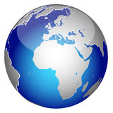 World globe. Icon and white background Royalty Free Stock Images
