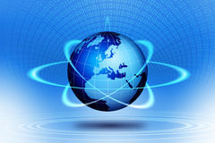 World globe action Stock Photo