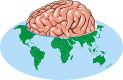 World globe as big brain Stock Photo