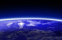 World globe (atmosphere). Blue world globe ( atmosphere ) illustration stock illustration