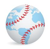 World globe baseball ball concept Stock Image
