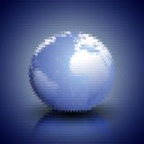 World globe blue geometric background, abstract Royalty Free Stock Image