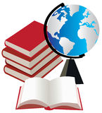 World globe and books Royalty Free Stock Photography