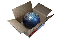 World Globe in a box Royalty Free Stock Images