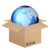 World globe box Royalty Free Stock Images