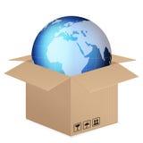 World globe box vector illustration