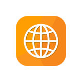 World globe browser App Icon. Flat world globe browser App Icon Graphic Resources Royalty Free Stock Image