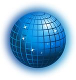 World globe business networking vector icon. Design illustration Royalty Free Stock Images