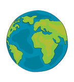 World globe cartoon. Vector illustration of world globe cartoon on white background Stock Images