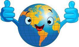 World globe character Royalty Free Stock Images