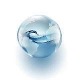 World globe with clean water inside Stock Image