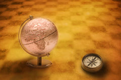 World Globe Compass Europe Africa Stock Images