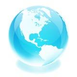 World globe. Crystal earth world globe america Royalty Free Stock Photography