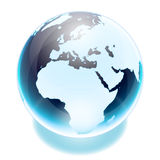 World globe. Crystal earth world globe europe Royalty Free Stock Photos