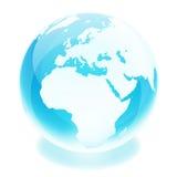 World globe. Crystal earth world globe europe Royalty Free Stock Image