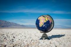 World Globe in Desert Stock Photos