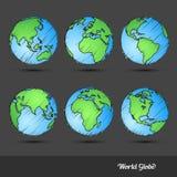 World Globe doodle Royalty Free Stock Images