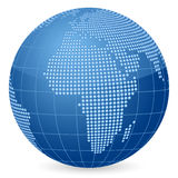 World globe dot Royalty Free Stock Image
