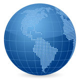 World globe dot 2 Stock Images