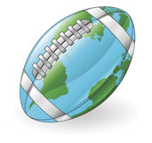World globe football ball concept Stock Photos