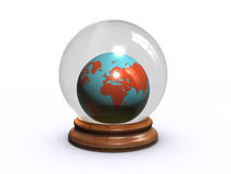 World globe in a glass ball Stock Image
