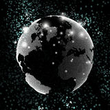 World globe, global network. Molecule structure Stock Images