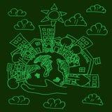 World globe green Stock Images