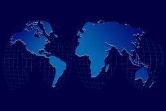 World Globe on a grid Royalty Free Stock Photo