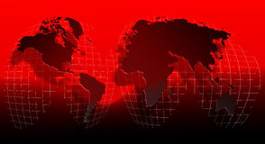 World Globe on a grid4 Stock Images