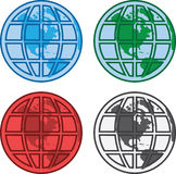 World globe grids Royalty Free Stock Images