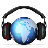 World globe headphone Stock Image