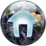 World globe home button Royalty Free Stock Photo