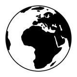 World globe icon. vector earth logo. web global simbol illustration Stock Images
