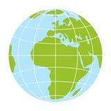 World globe icon. vector earth logo. web global simbol illustration. World globe icon. vector earth logo. web global symbol with grid Stock Photography