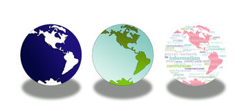 World globe icons Royalty Free Stock Photos