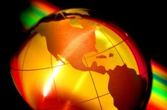 World globe III. Crystal globe earth, the only home we have royalty free stock photo